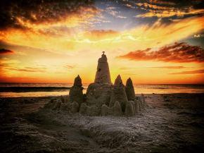 Florida sand castle